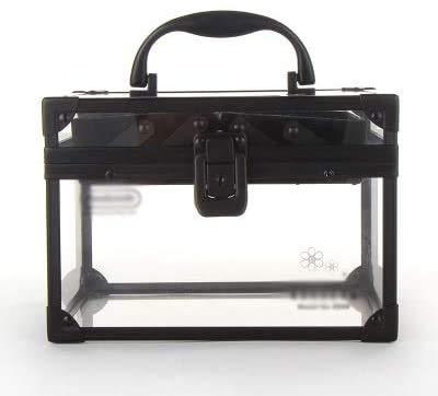 Chunjiao Portable Beauty Case DIY Double verrouillables Acrylique Transparent cosmétique beauté cosmétique, Vanity Organisateur Boîte de Rangement cosmétique