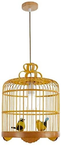 Pájaro Tipo de jaula China Chandelier Retro Hollow tejido a mano Lámpara decorativa LED Luz de cabeza única E27 Lámpara Soporte Lámpara Cuerda Ajustable YZPTD (tamaño : Small)