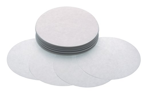 Kökshantverk vaxpapper biff hamburgare skivor (paket med 250) 11 cm (4.5 Inch) SILVER