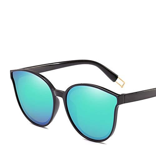 SHANGYUN Gafas de Sol Retro para Mujer con Revestimiento de Espejo, Gafas de Sol para Mujer, Gafas Vintage, de Gran tamaño para Mujer, Verde