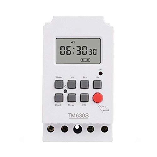 TM630S-2 de alta potencia 220V Segundo Control de temporizador programable digital LCD Iluminación Circuito Controler A Sin cableado de la vivienda y la seguridad antirrobo disuasivo