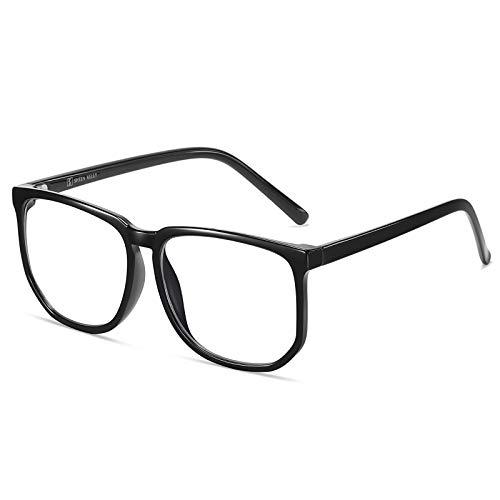 Große Rahmenbrillen Anti Blue Light Glasses Square Brille Klare Linse