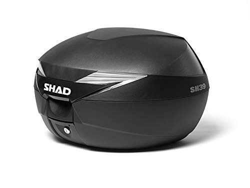 SHAD D0B39100 Topcase mit Montageplatte Enthalten, Schwarz