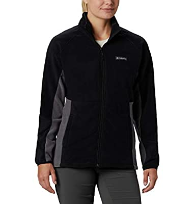 Columbia Women's Basin Trail Fleece Full Zip, Black, City Grey, 3X