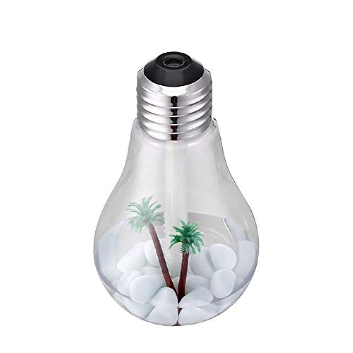 明るいひまわり介入する新しいUSBクリエイティブ電球加湿器 - シルバー