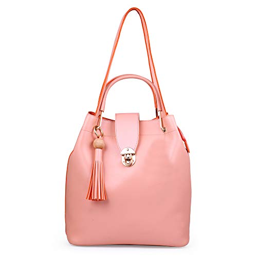 Speed X Fashion Combo Set Pu Leather Shoulder Bags For Women Set Of 4 (SRTY000GFR2) (Pink)