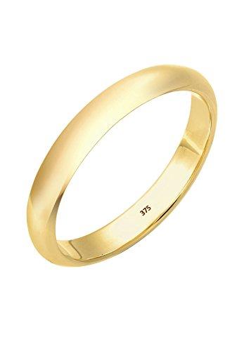 Elli PREMIUM Ring Damen Ehering Bandring Klassisch in 375 Gelbgold