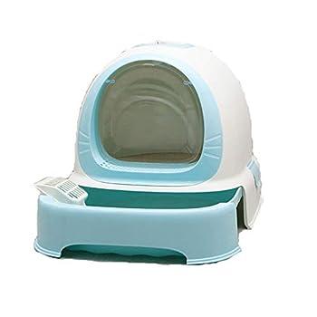 Rory Dissociables De Toilette pour Chat, Plus Grand Espace Litière Tiroir Type Plateau Boîte avec Pelle, Facile À Assembler 52 * 42 * 40Cm,A