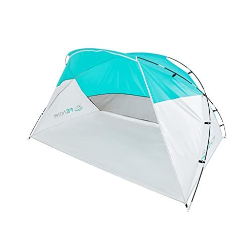 FE Active Tente Abri de Plage - Parasol de Plage Tente Familiale Coupe Vent, Tente de Plage Instantanée, Portable, Anti UV Bébé Tente Pop Up pour Le Camping, Randonnée, Voyages   Conçue en Californie