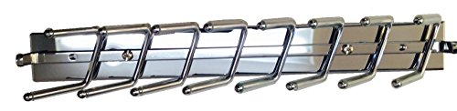 Touch to Open Deluxe Sliding Tie Rack, Chrome 14