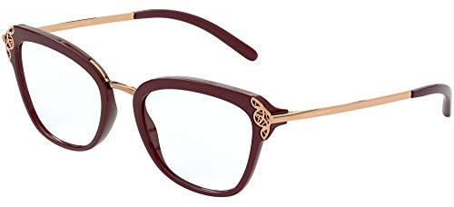 Dolce & Gabbana FILIGREE & PEARLS DG 5052 BURGUNDY 52/19/140 Dames Brilmonturen
