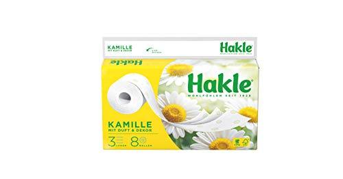 """Hakle Toilettenpapier""""Natürlich Pflegend mit Kamille und Aloe Vera"""" 3-lagig, 8 Stück"""