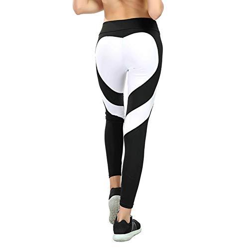 GDRFHJZ Plus Maat XXXL vrouwen Fitness Heart Leggings Naadloze legging Femme Summer Workout Running Leggings