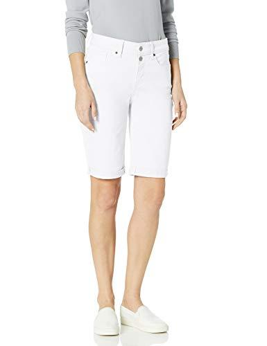 NYDJ Women's Briella Denim Shorts with ROLL Cuff, Optic White, 10