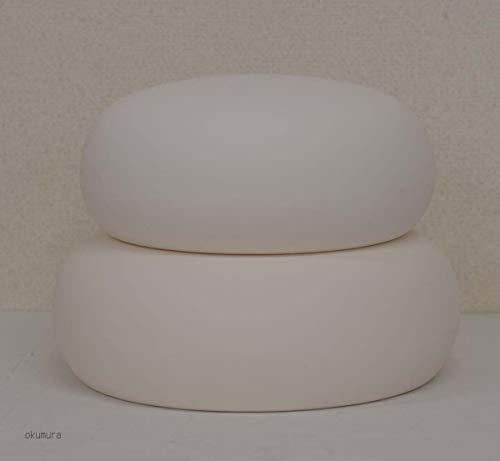 正月飾りに◇お飾り鏡餅 陶器製◇何度も使える(中サイズ)5合餅サイズ