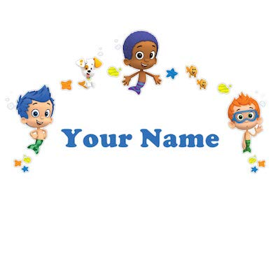 Personalized Bubble Guppies Boys Kids Name Wall Decal