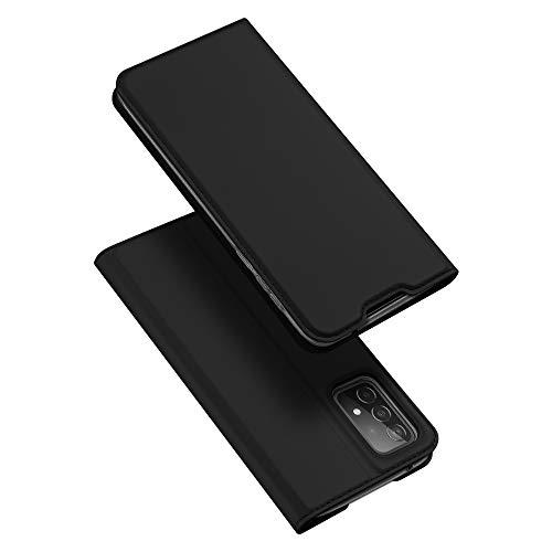DUX DUCIS Hülle für Samsung Galaxy A52, Leder Klappbar Handyhülle Schutzhülle Tasche Hülle mit [Kartenfach] [Standfunktion] [Magnetisch] für Samsung Galaxy A52 (Schwarz)
