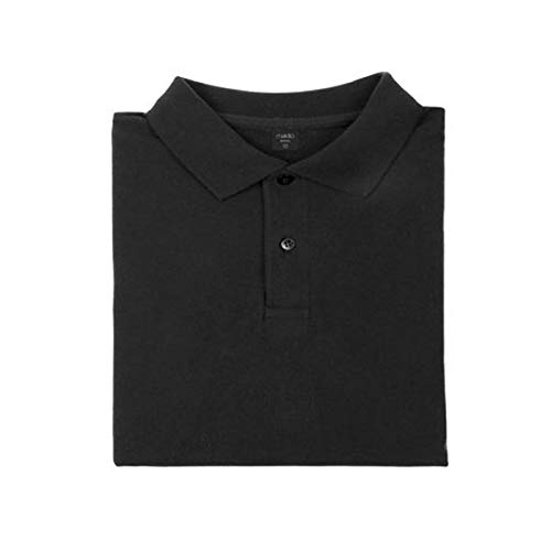 BigBuy Fashion 144756 Polo Shirt, Negro, Extra Extra Grande Mens