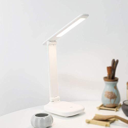 QIURUIXIANG - Lámpara LED plegable, con un puerto USB Infinite Eye Dimming Lights Office, tres modos de iluminación, control táctil