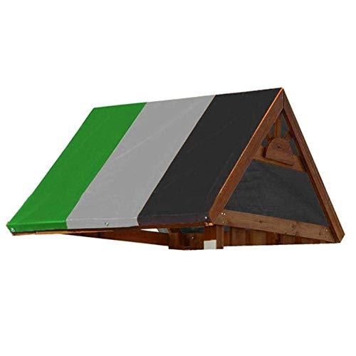 Iwinna Toldo de repuesto, universal de color, impermeable, toldo de repuesto para techo, cubierta de parasol para exteriores, para parque infantil, jardín, patio, columpio de hamaca – 132 x 226 cm