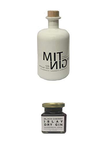 Mitnig 58 Gin - White - 0,5 Liter + Islay Dry Gin Black Cherry Sauerkirsche Marmelade 150 Gramm