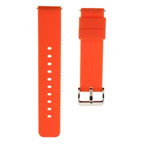 oshhni 1 X Correa de Reloj de Silicona de Liberación Rápida para Hombres - Naranja, 22 mm