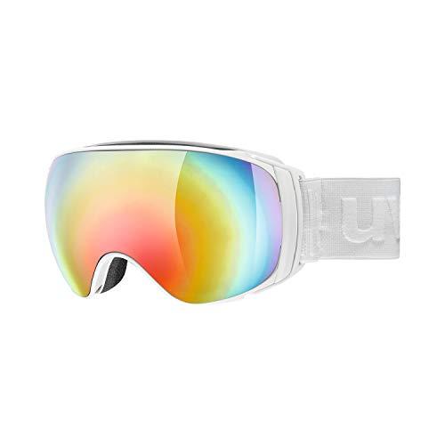 Uvex Unisex– Erwachsene sportiv FM Skibrillen, White matt, one Size