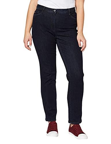 BRAX BRAX Damen BX_Carola Straight Leg Jeans, Blau (Clean Raw Blue 22), W32/L32 (Herstellergröße: 42)