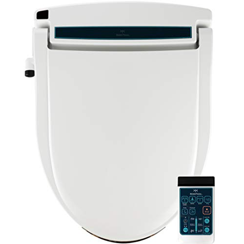 BidetMate BM-2000R-E Series Electric Bidet Heated Smart Toilet Seat with Unlimited Heated Water, Wireless Remote, Deodorizer, and Heated Dryer - Adjustable and Self-Cleaning - Fits Elongated Toilets