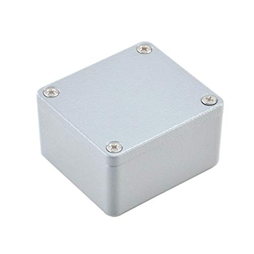 BestTong Aluminum Alloy Metal Mini Dustproof Waterproof IP66 Small Junction Box Extruded Industrial Structure Outdoor Universal Electric Project Enclosure Grey 2.5 x 2.2 x 1.3 Inch(64mmx58mmx35mm)