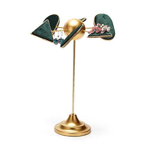 Estante de la joyería Exhibición de la joyería Organizador Rack - creativo exhibición de la joyería del soporte del verde esmeralda de la suspensión del sostenedor del soporte for el / los pendientes