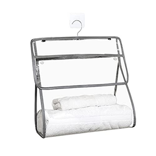 Feixing Bolsa de almacenamiento de baño transparente impermeable a prueba de polvo ropa y artículos de tocador bolsa colgante de gran capacidad para el hogar Organizador