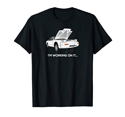 "240sx S13 Hatch ""I'm Working On It"" Graphic T-Shirt"