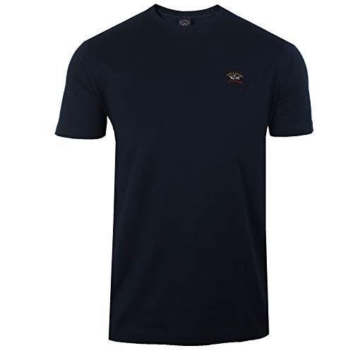 Paul and Shark Herren Crew-Nacken-T-Shirt Marine M