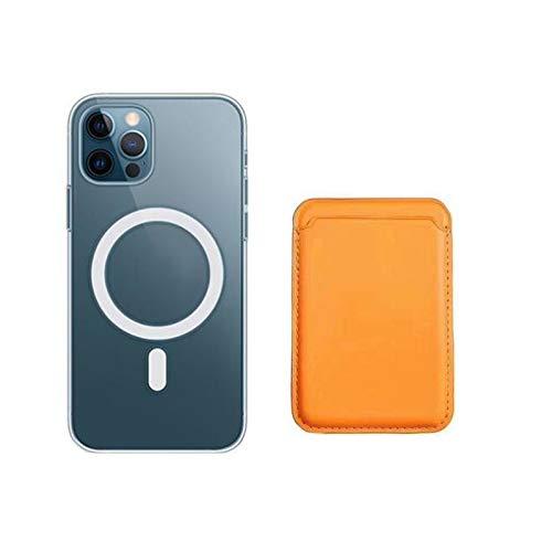 マグセーフケースはiPhone12と互換性があります。12mini / 12pro用のスクラッチ防止ウルトラクリアカバーアンチイエローシリコンTPUケース(2020)