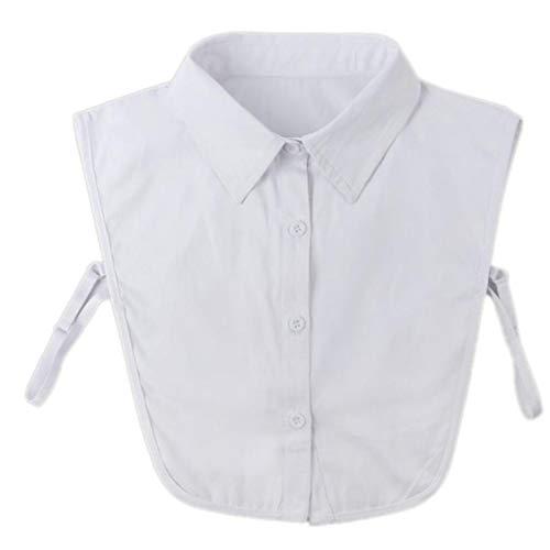 LAVALINK Desmontable De La Solapa De La Camisa Falso Collar Sólido De La Manera De La Blusa De Color Falso Corbata Accesorios Ropa para Mujeres