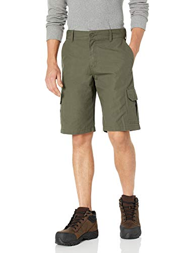 Dickies Men's 11 Inch Relaxed Fit Lightweight Ripstop Cargo Short, Moss, 40