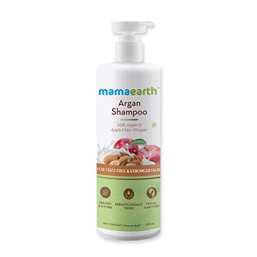 Mamaearth Argan & Apple Cider Vinegar Shampoo For Dry & Frizzy Hair, with Argan & Apple Cider Vinegar for Frizz-Free & Stronger Hair 250 ml