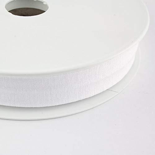Inside Textil Einfassband Schrägband 25mm Reinweiß ungefalzt 10 Meter Made in Germany Nähset nähzubehör Polyester Baumwolle Oeko Tex