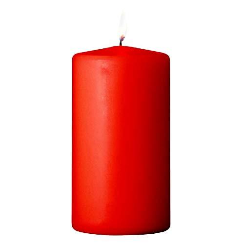 S&S-Shop 12 Adventskranz Kerzen | Rot | 30 h Brenndauer | Stumpenkerzen Blockkerze Kerzen Deko Weihnachten Weihnachtskerzen Adventskranzkerzen