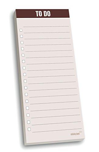 Sticky Jam - Blocco note magnetico MC Memo, lista delle cose da fare