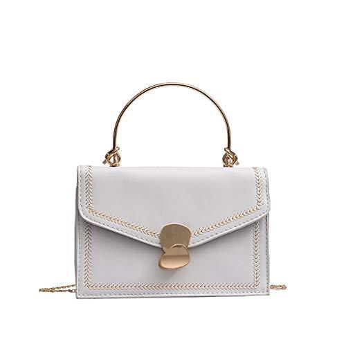 Damen Sommer Handtasche Neue Quaste Handtasche Kette Umhängetasche Mini Clutch Lady Umschlag Tasche Mini-Tasche Handtasche (Weiß)