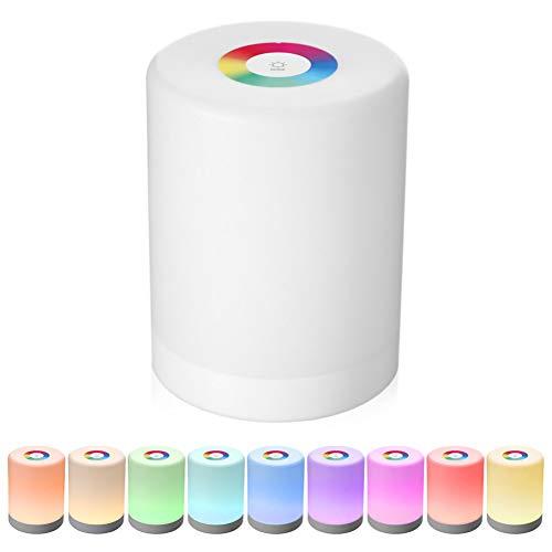 XHSHLID Smart-LED dimmer dimmer, met intelligente touch bediening, oplaadbaar, dimbaar, RGB kleurverandering met haak