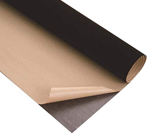 Hoja De Tela De Terciopelo Adhesiva Pegajosa Hoja Trasera Fieltro Muebles Con Negro Tela adhesivo Hojas autoadhesivas 45cm x 1.5m