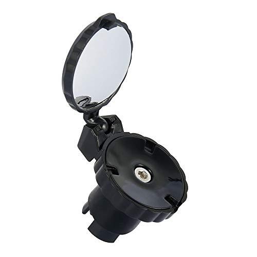 Fahrradspiegel für Lenker Endhalterung, Klappbar 360 Grad Drehbar Klein Mini Safe Rückspiegel für MTB Mountainbike Rennrad E-Bike Lenker 21-22,2 mm (1)