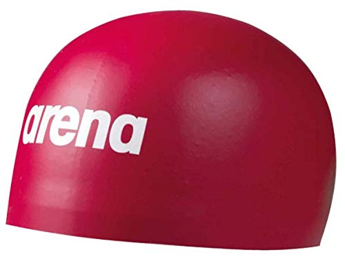 Arena Men's 3D Soft Swim Cap, Red, M, Medium