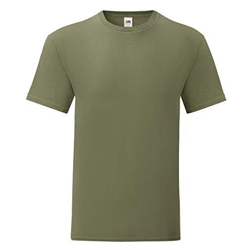 T-Shirt da Lavoro Uomo Maglietta Manica Corta Cotone Fruit of The Loom Iconic T