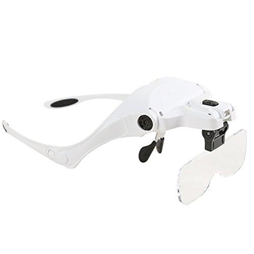 UEETEK 5 lente de lente de lupa ajustable Lupa lupa con LED de luz lámpara Lupas para la extensión de la pestaña Belleza
