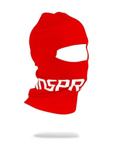 SPRAYGROUND BACKPACK RED SPRAYGROUND LOGO SKI MASK