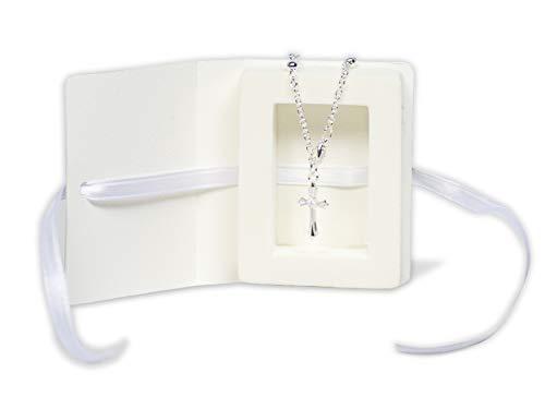 Mareli- Kit 4 Cajas 7 x 5,5 x 1 cm con Pulsera Rosario Decina incluida. Ideal como bombonera de Primera comunión o confirmación color blanco. (1)